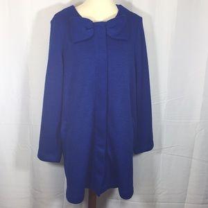 Elle royal blue sweater jacket XL